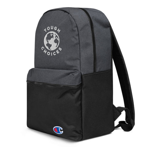 Touch Choices Globe Embroidered Champion Backpack
