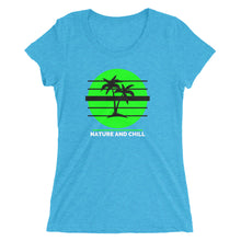 Load image into Gallery viewer, Nature and Chill Palm Trees Ladies' short sleeve t-shirt