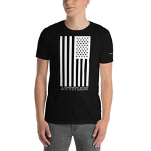 Load image into Gallery viewer, Attitude American Flag Dark Colors Short-Sleeve T-Shirt