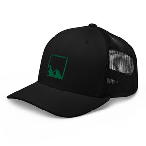 Yukon Green Mountain Logo Puff Print Trucker Cap