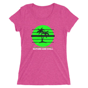 Nature and Chill Palm Trees Ladies' short sleeve t-shirt
