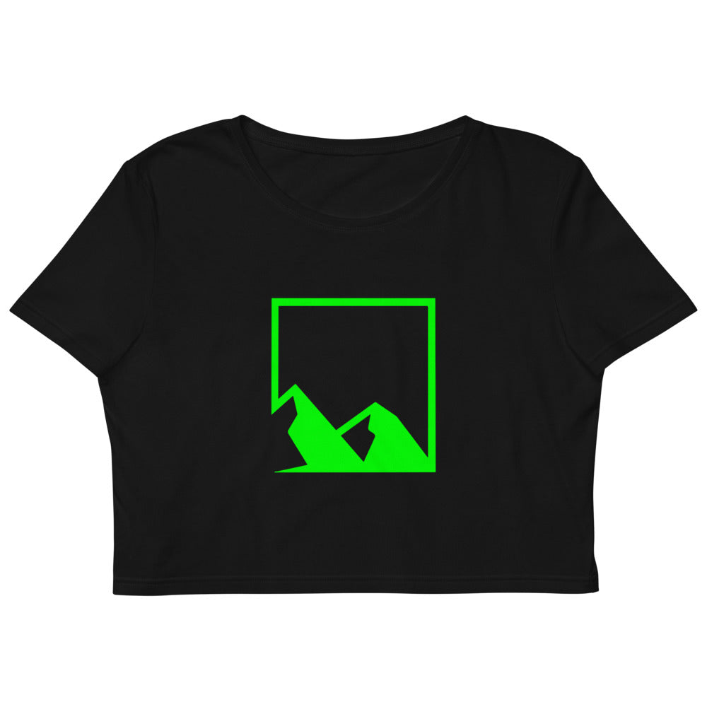 Green Mountain Logo Organic Crop Top