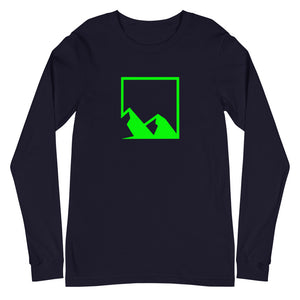 Yukon Green Mountain Logo and American Flag Long Sleeve Tee