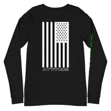 Load image into Gallery viewer, Attitude American Flag Long Sleeve Tee