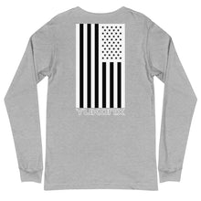 Load image into Gallery viewer, Yukon Green Mountain Logo and American Flag Long Sleeve Tee
