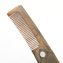 Load image into Gallery viewer, Folding Wooden Beard Comb