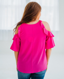Shockingly Perfect Blouse - Hot Pink