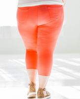 Quintessential Spring Jeggings in Coral