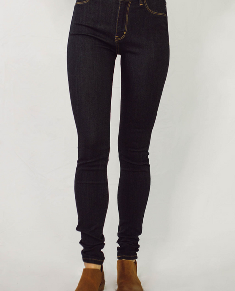 Classic Skinny High Rise Jeans - Dark Wash - SunPorch Boutique