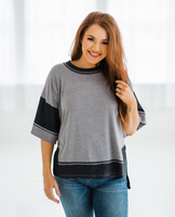 Summer in the Park Top - Charcoal