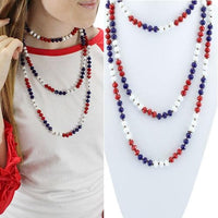 Layer Me Up Necklace in Red, White, & Blue