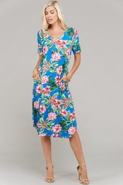 Tropical Paradise Midi Dress