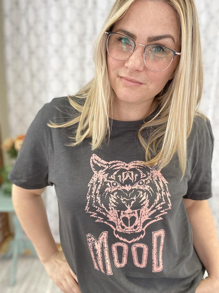 Pink Tiger Mood Tee - SunPorch Boutique