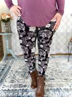 My Floral Skull Leggings - SunPorch Boutique