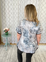 Perfectly Faded Paisley Top in Black