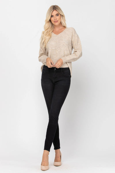 Judy Blue THERMAdenim Black Skinny Jeans - SunPorch Boutique