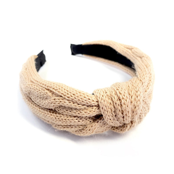 Knotted Up Cream Wool Headband