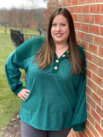 Be Persistent Hoodie in Green - SunPorch Boutique