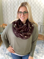 Under My Umbrella Infinity Scarf in Black - SunPorch Boutique