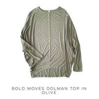 Bold Moves Dolman Top in Olive - SunPorch Boutique