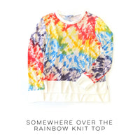 Somewhere Over the Rainbow Knit Top