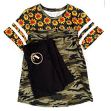 The Sunflowers & Camo Top