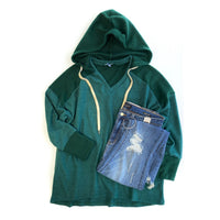 In The Know Hoodie in Green - SunPorch Boutique
