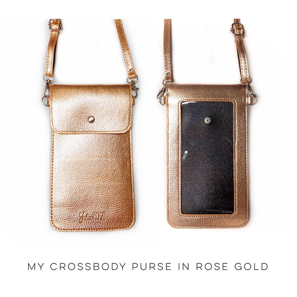 My Cross Body Purse in Rose Gold - SunPorch Boutique