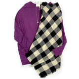 Bold Moves Dolman Top in Purple - SunPorch Boutique