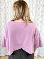 Belt It Out Top in Lavender