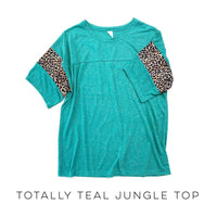 Totally Teal Jungle Top