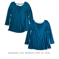 Across the World Top in Teal - SunPorch Boutique