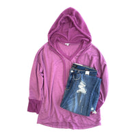 Rule of Thumb Hoodie in Magenta - SunPorch Boutique