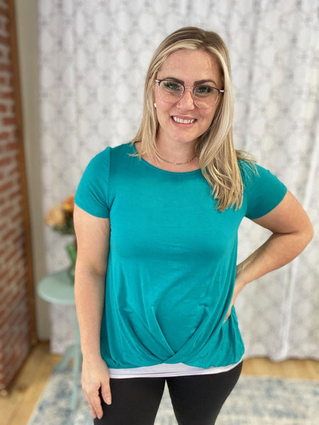 Take the Next Step Top in Emerald - SunPorch Boutique