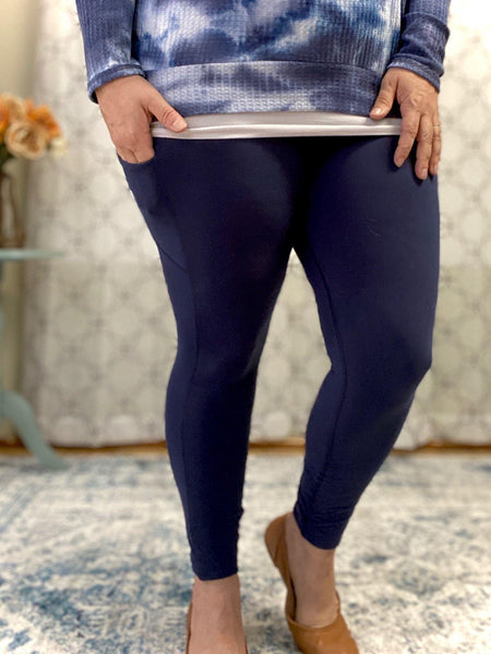On The Go Leggings in Navy - SunPorch Boutique