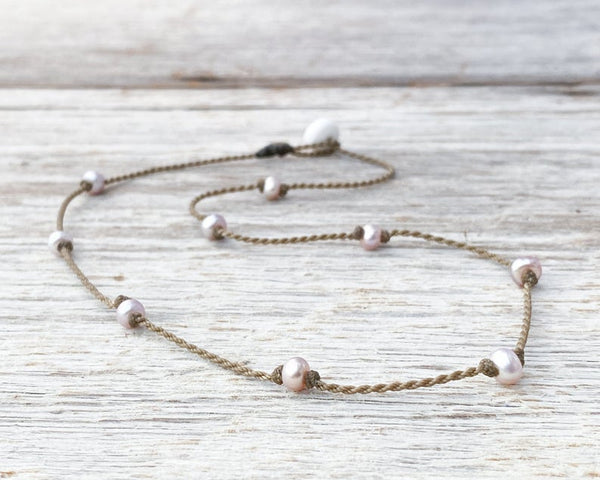 Tula Blush Freshwater Pearl Princess Necklace 16""