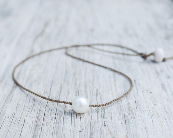 Tula White Freshwater Pearl Classic Necklace 16""