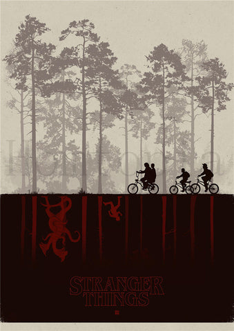 Poster Stranger Things® Upside Down