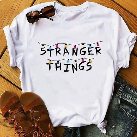 T-Shirt Stranger Things® Blanc