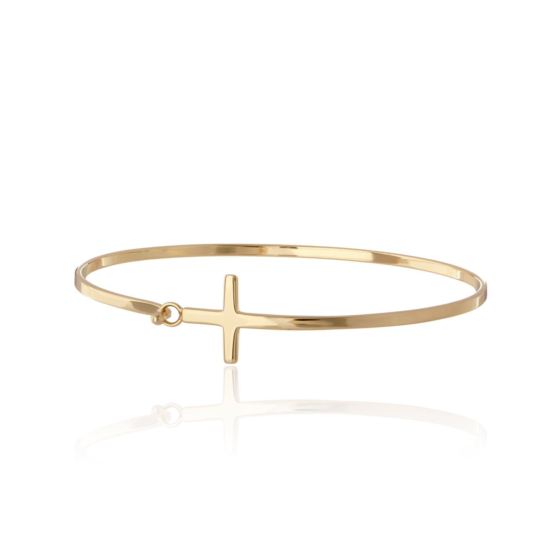 Bernadette Sideways Cross Bangle
