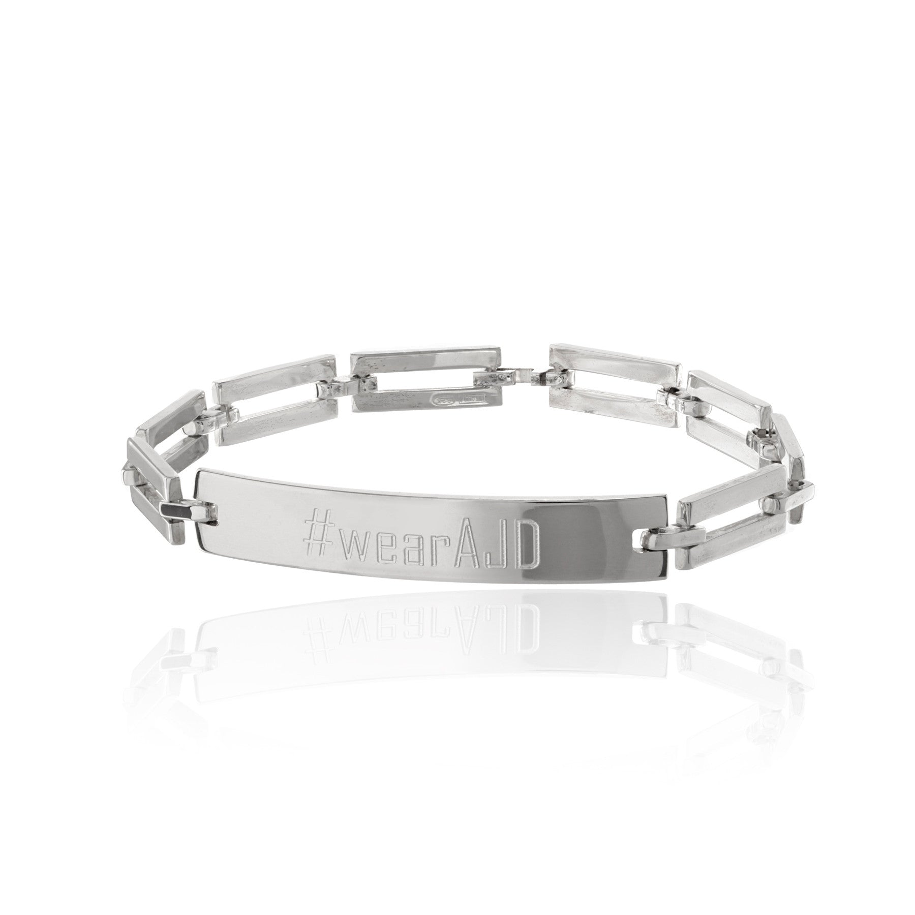 Bailey Rectangle Link ID Bracelet
