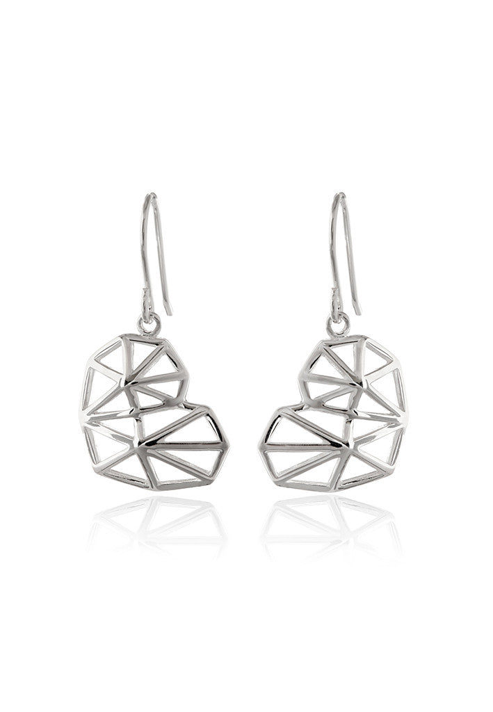 Geo Heart Earrings