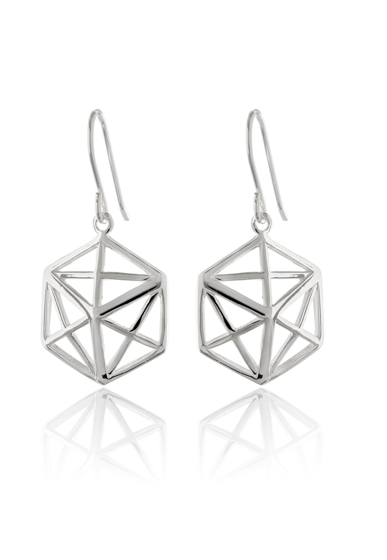 Geo Hex Earrings