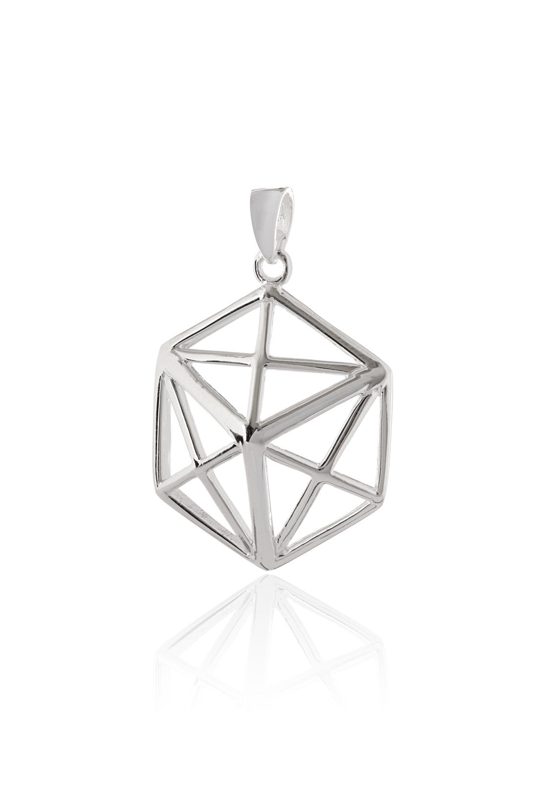 Geo Hex Pendant Necklace