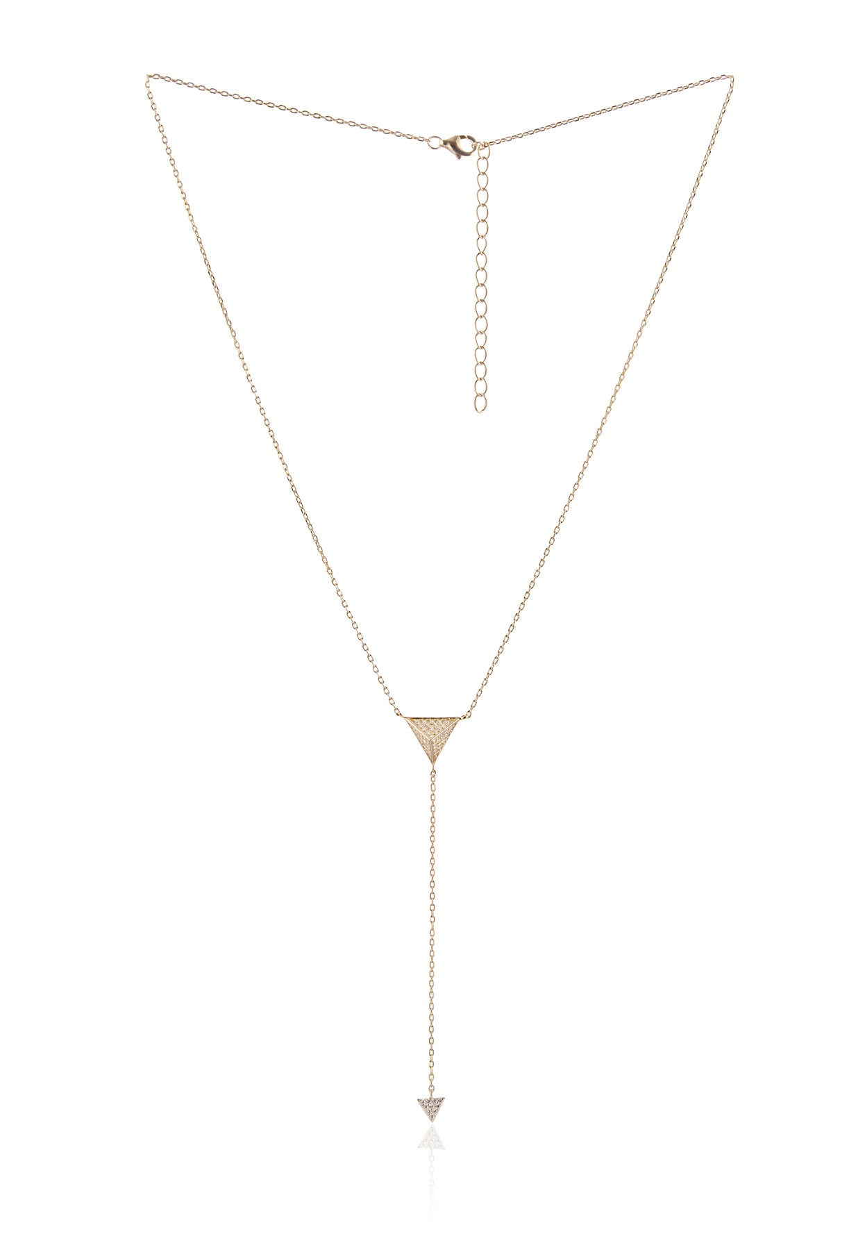 Tribeca CZ Lariat Necklace