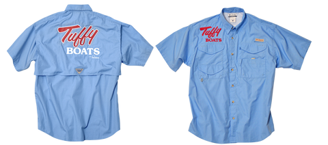 Tuffy Short Sleeve Tournament Shirt, Columbia, blue and sage