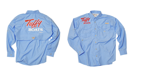 Tuffy Long Sleeve Tournament Shirt, Columbia, blue and sage