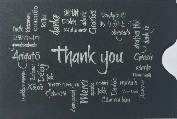 Tip Slips Black Thank You Gratuity Envelope