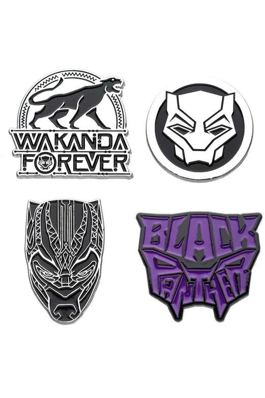 DC Comics | Black Panther Ansteck-Pin 4er-Set - Stuffbringer