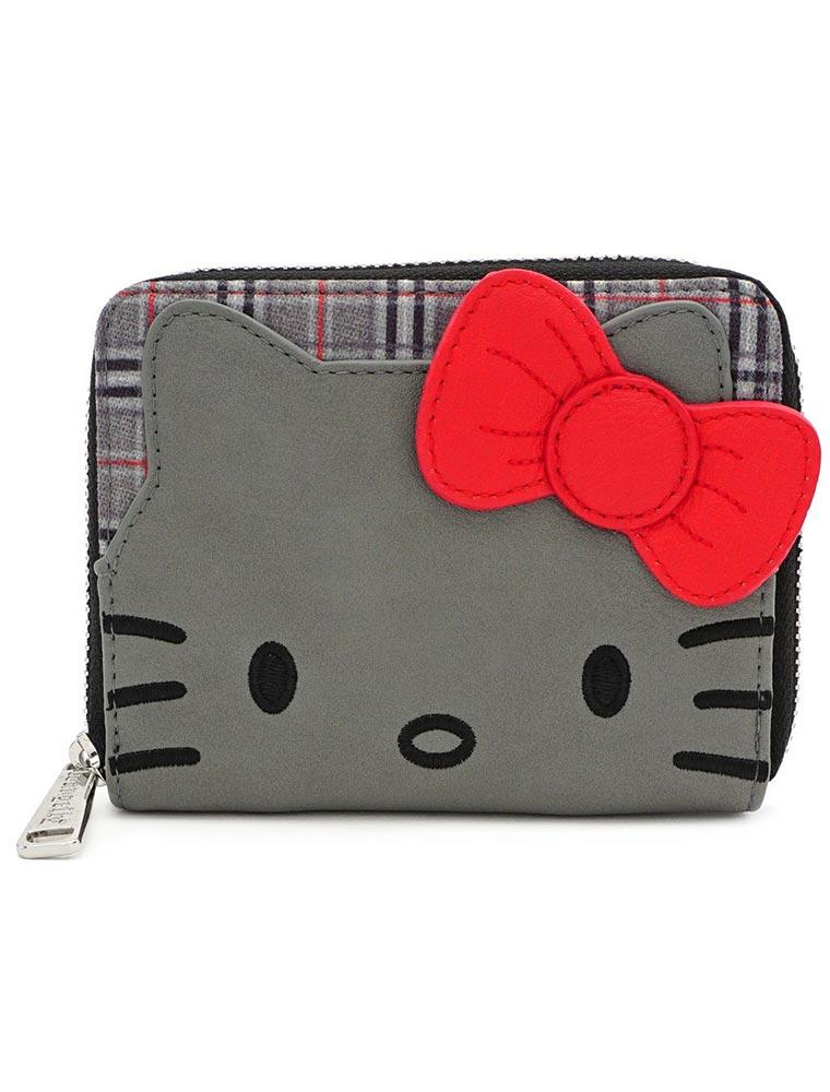 Loungefly Hello Kitty | Grey Kitty (Kariert) Geldbeutel